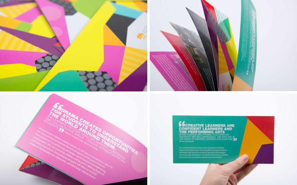 Campaign design concepts for Central Coast Grammar School Performing Arts Centre
