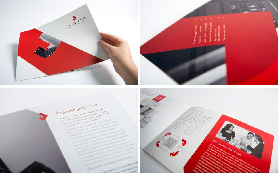 Julliard brochure design previews
