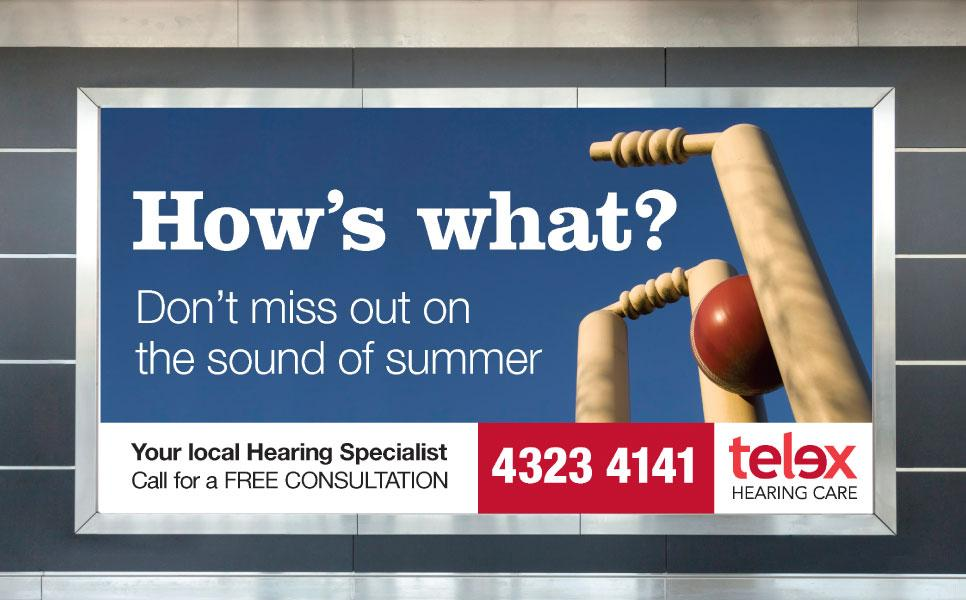 Telex billboard ad – Don't miss out on the sounds of summer