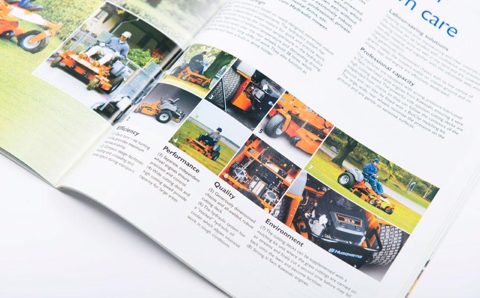 Husqvarna brochure design inside pages
