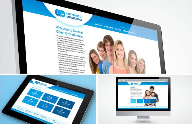 Central Coast Orthodontics web design and development
