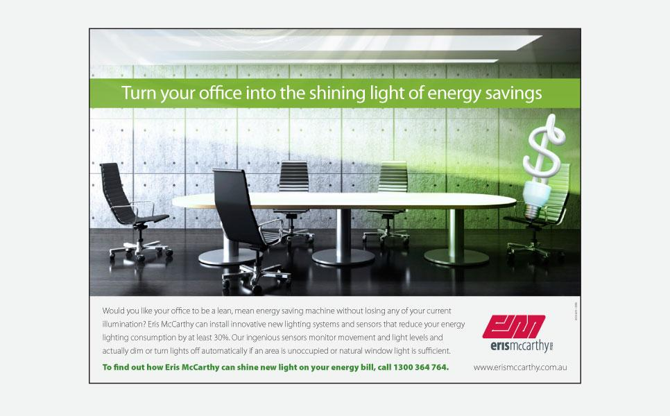 Eris McCarthy energy saving press ad design
