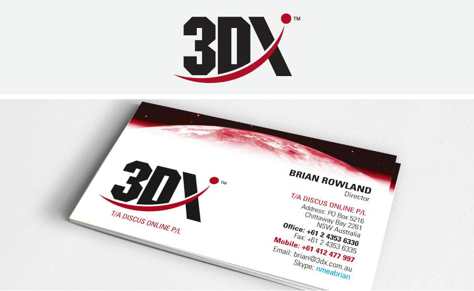 3DX logo design and stationery