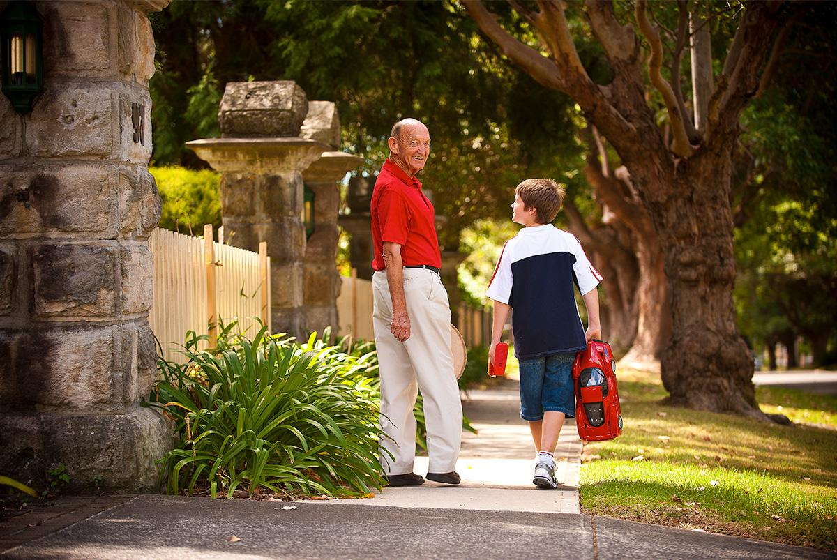 Baldwin Care Photography – Grandfather and grandson walking