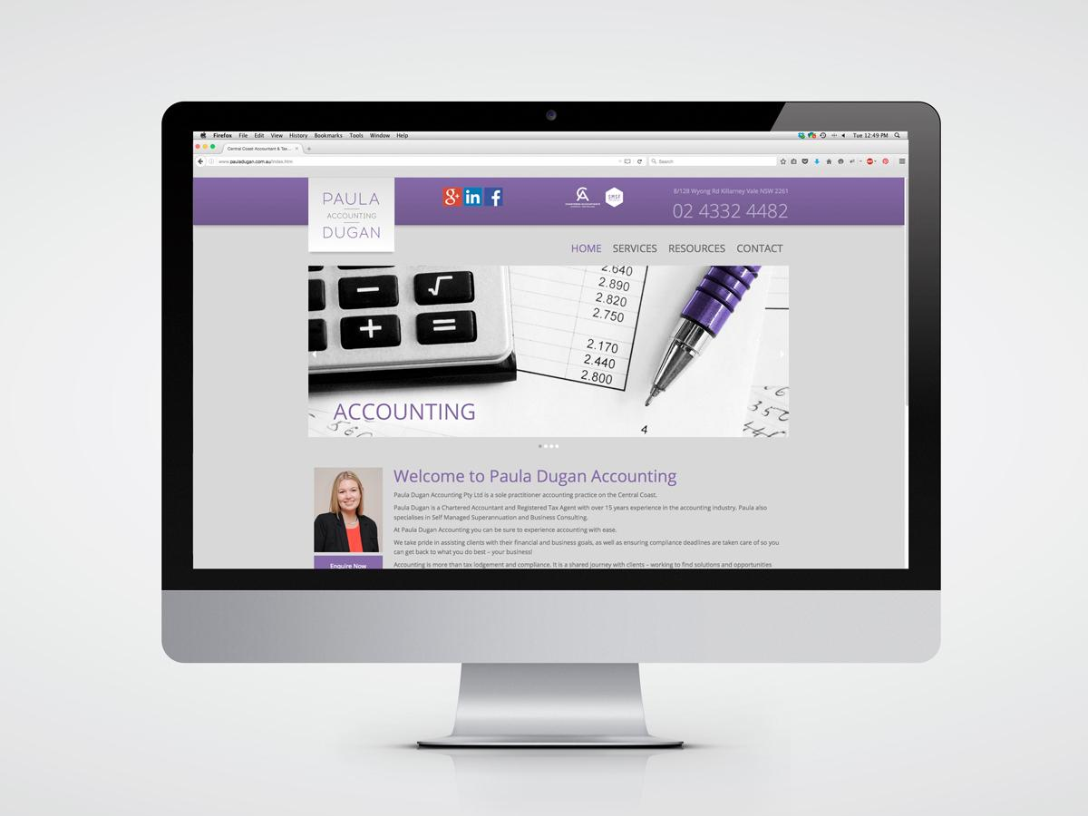Paula Dugan Accounting website home page design
