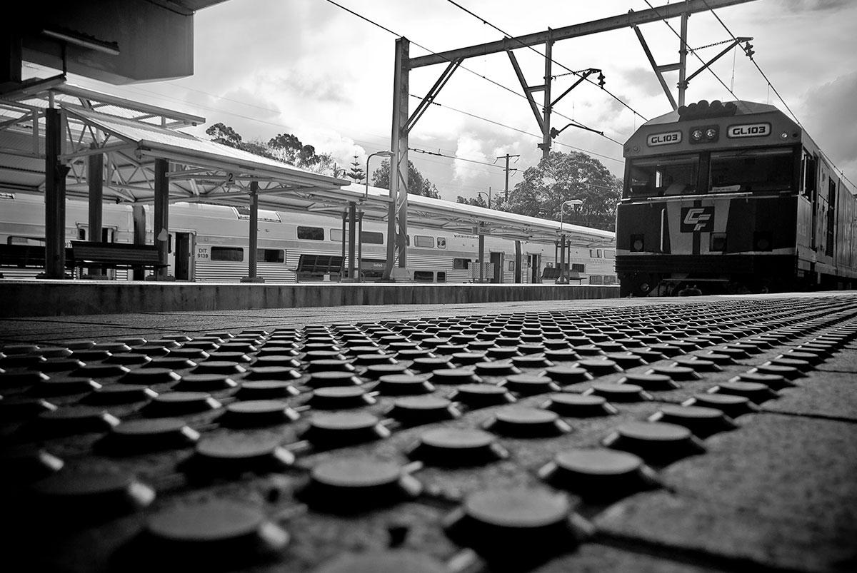 Gosford Station photography black and white
