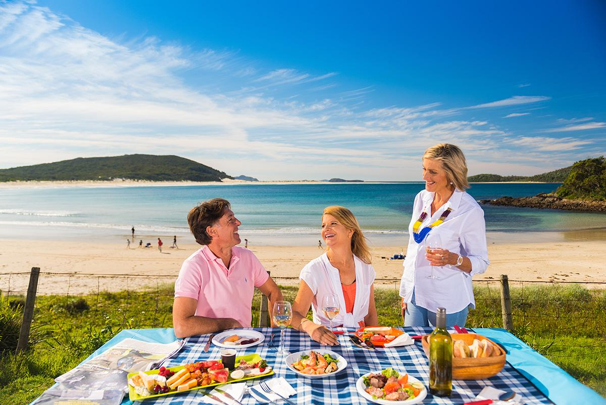 Picnic at Fingal Bay