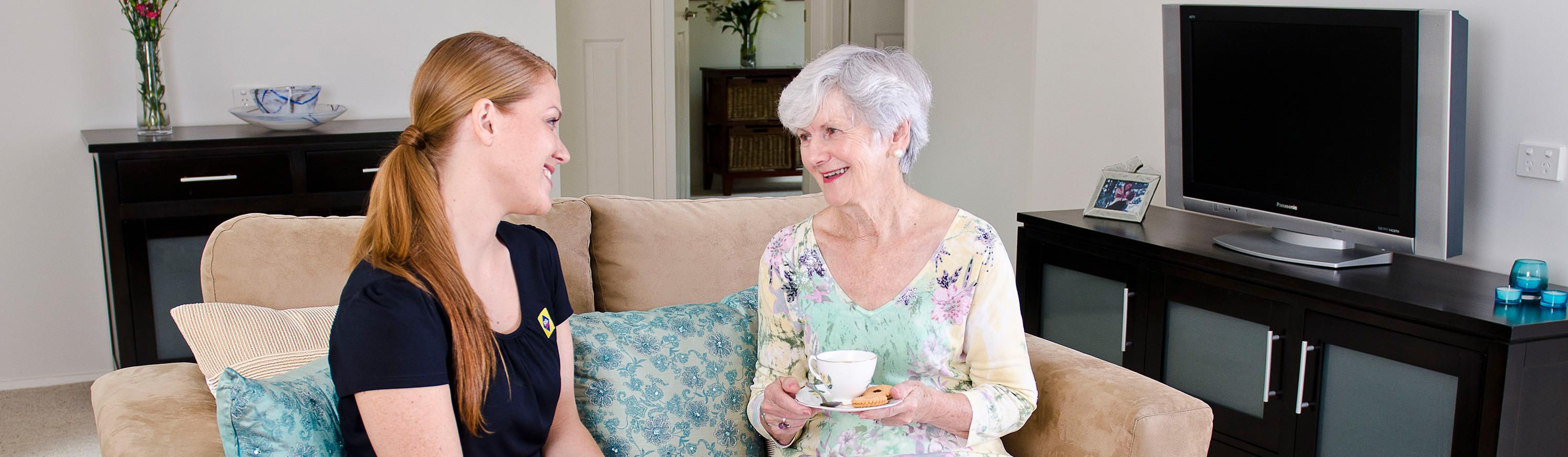 Grandmother with carer – RSL Care