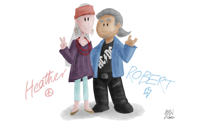 Heather and Robert illustration