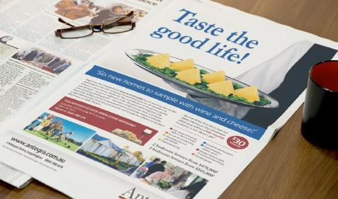 Taste the good life press ad