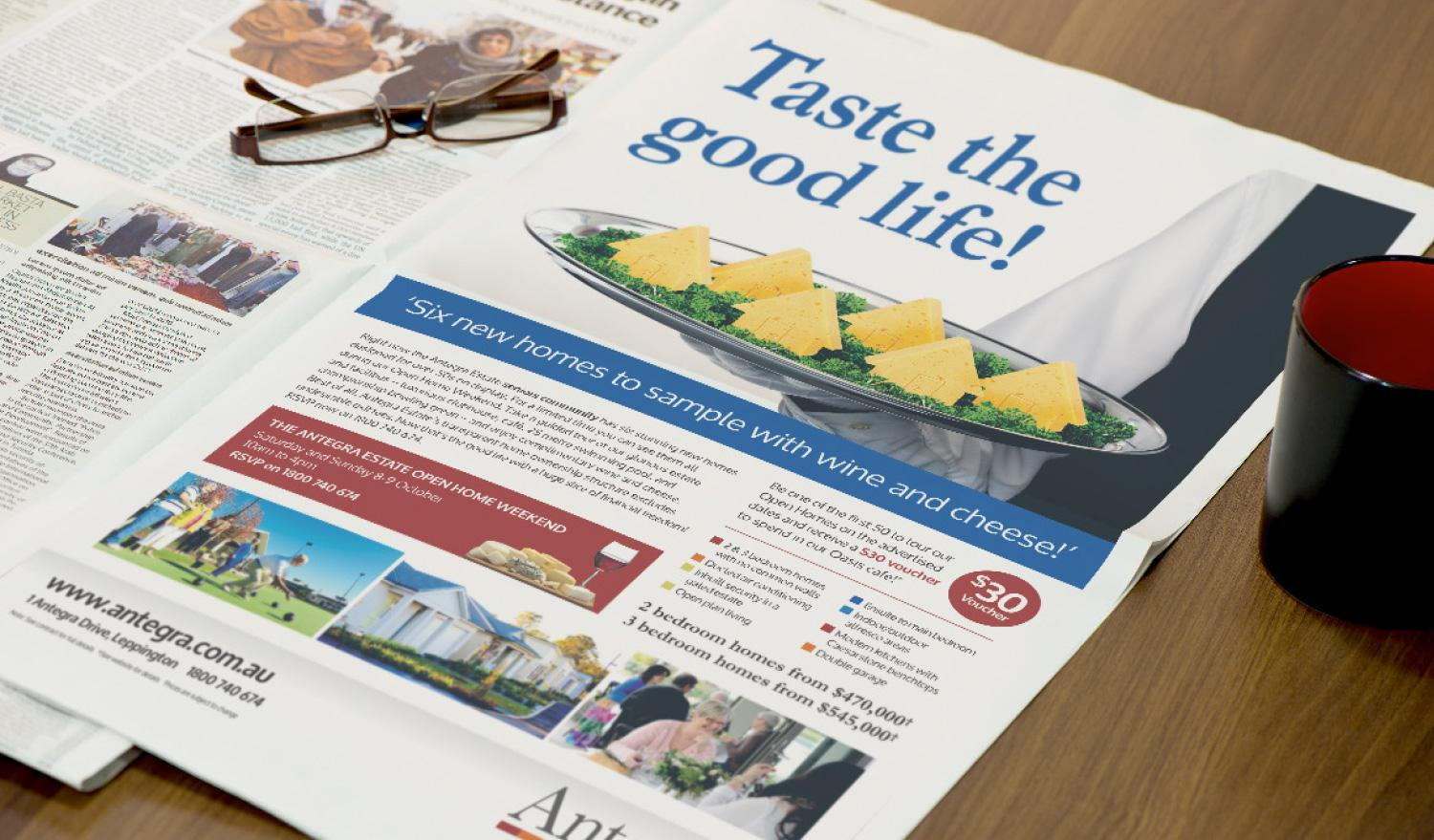 Antegra Estate – Taste the good life press ad