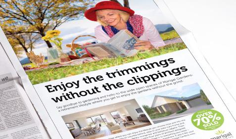 Enjoy the trimmings without the clippings press ad