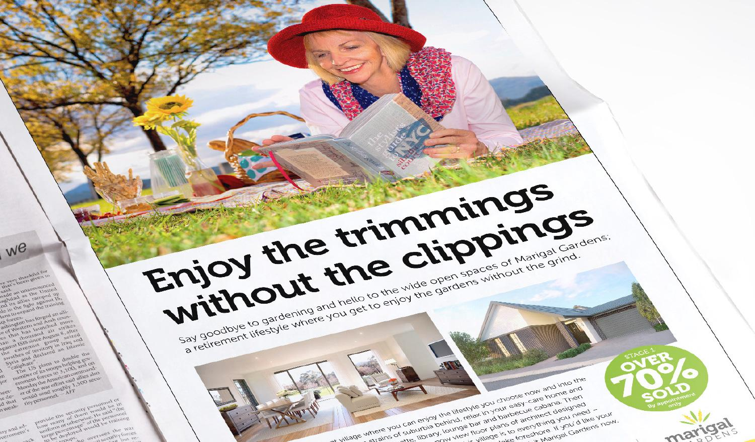 Marigal Gardens – Enjoy the trimmings without the clippings press ad