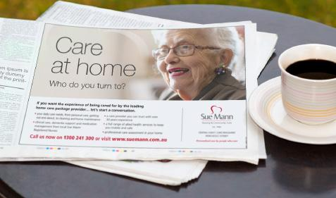 Care at home press ad