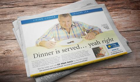 Living Choice ad - the dinner is served... yeah right!