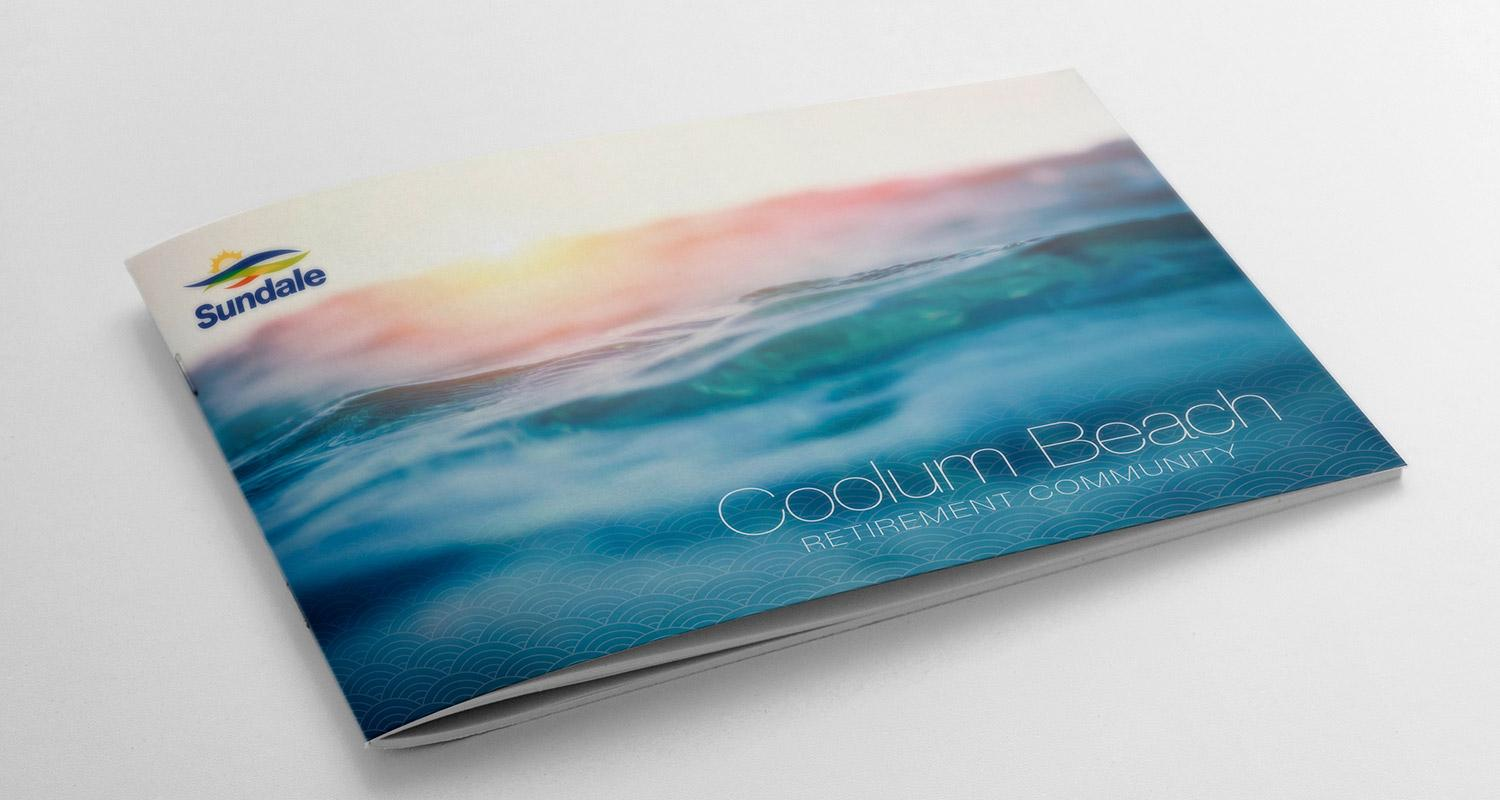 Coolum Beach Brochure internal spread design