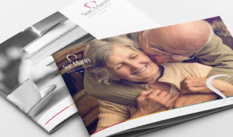 Sue Mann care brochures cover designs thumb