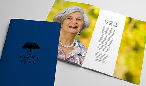 The Grange Deakin Brochure Design