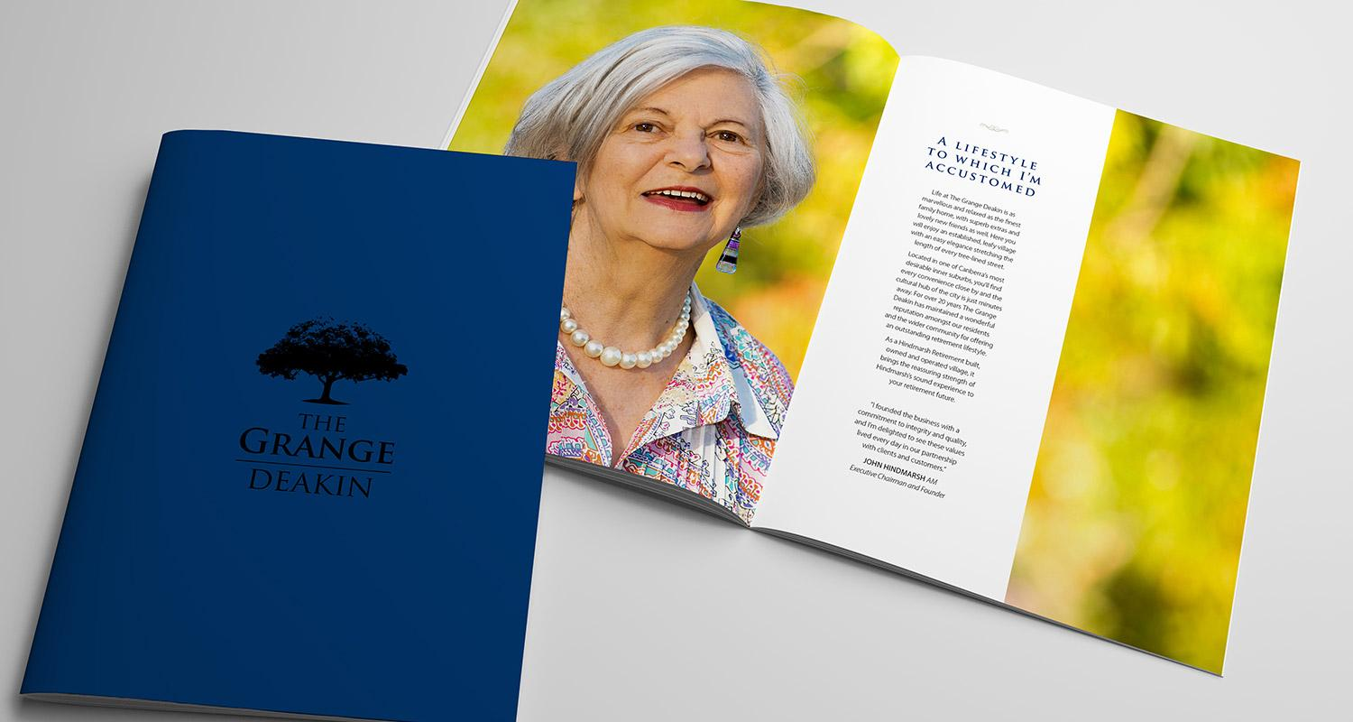 The Grange Deakin Brochure Cover and internal page design