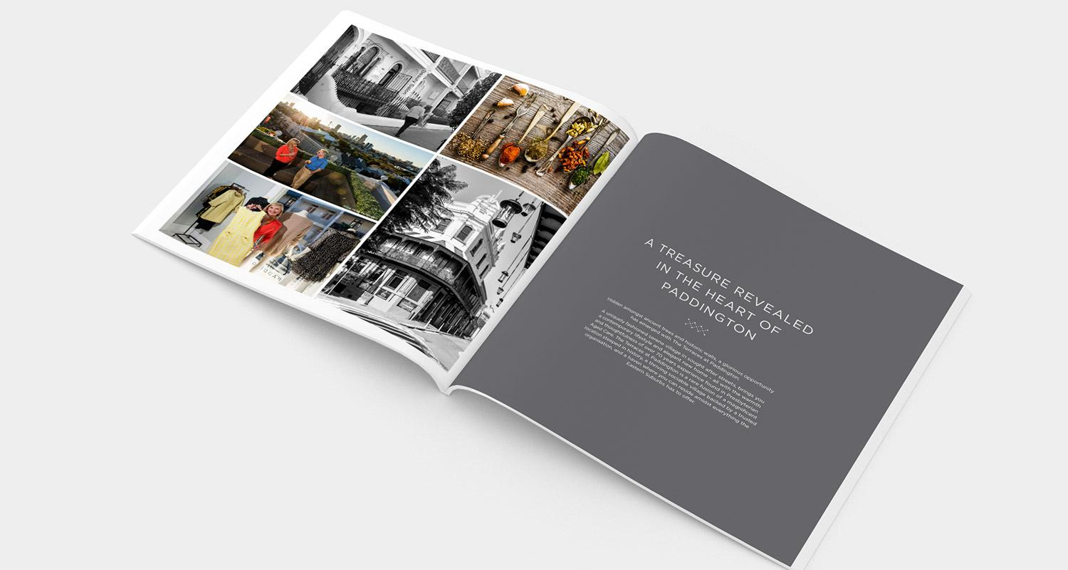 The Terraces brochure design internal page – A tresure revealed