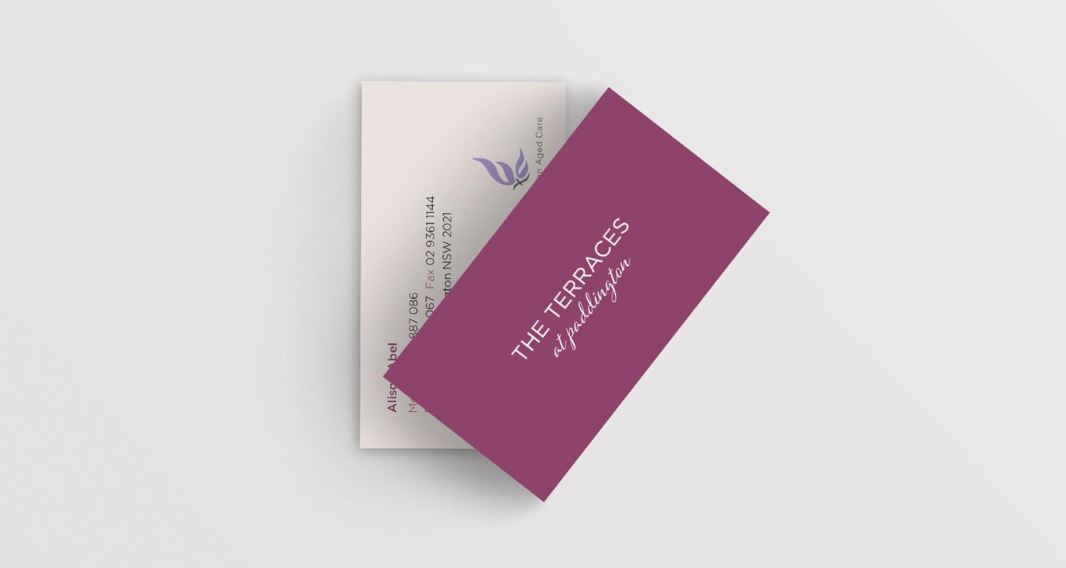 The Terraces at Paddington Business Card Design