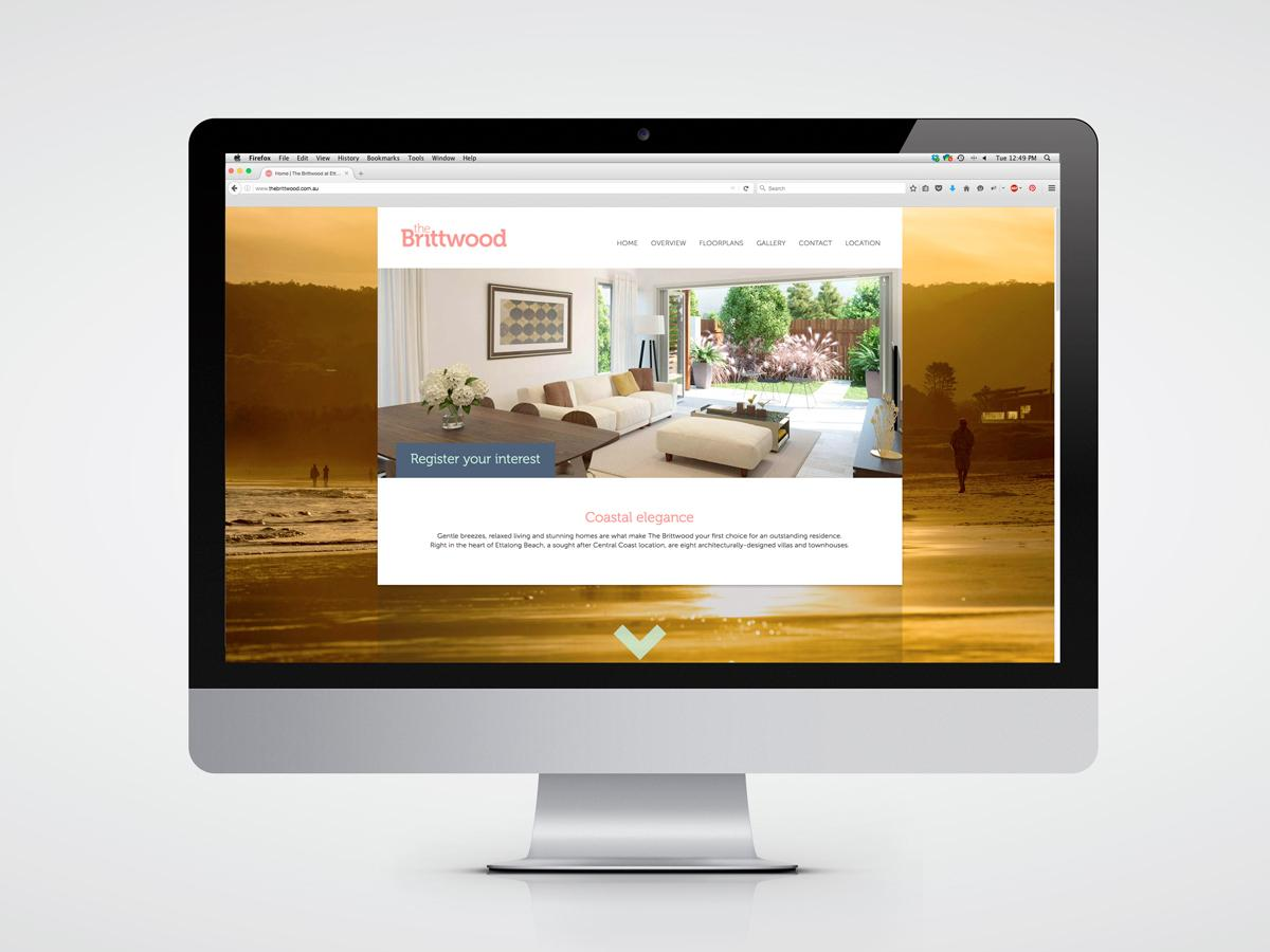 Website home page design for The Brittwood at Ettalong