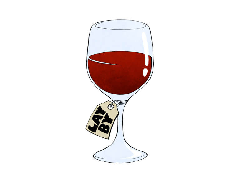 glass of wine illustration